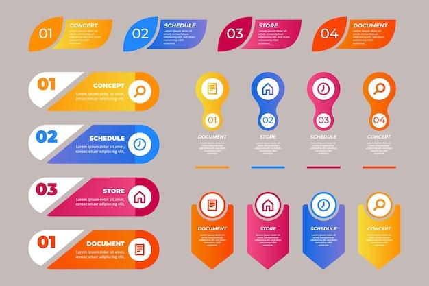 Paquete de elementos de infografía