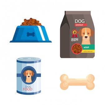 Paquete de elementos de la tienda de mascotas