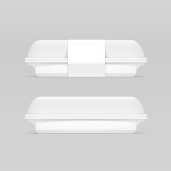 Paquete de embalaje de envase de caja de comida rápida blanca paquete de embalaje