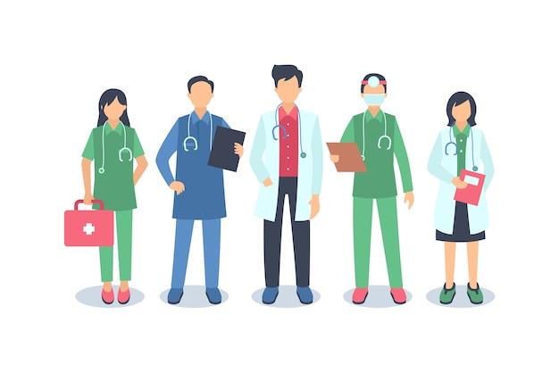 Paquete de equipo de profesionales de la salud