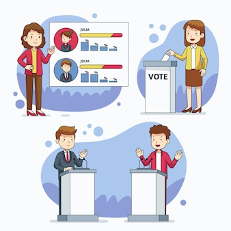 Paquete de escenas de campaña electoral