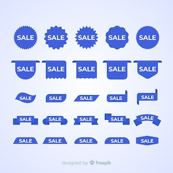 Paquete de etiqueta azul de ventas