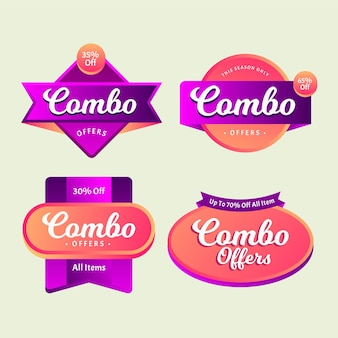 Paquete de etiquetas de comidas combinadas