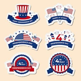 Paquete de etiquetas del día de la independencia
