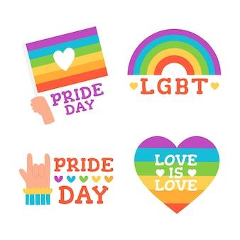 Paquete de etiquetas del día del orgullo