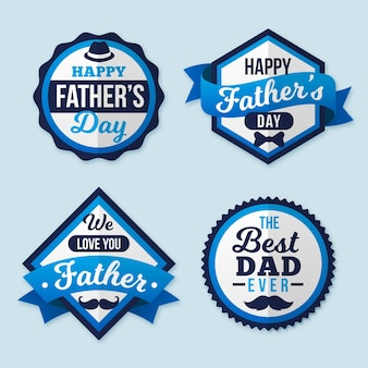 Paquete de etiquetas del día del padre