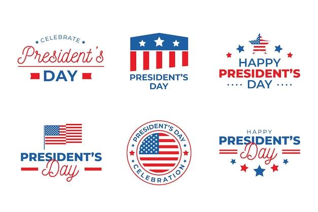 Paquete de etiquetas del día del presidente