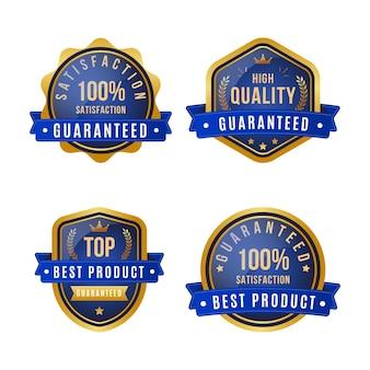 Paquete de etiquetas de garantía al cien por cien