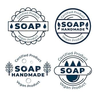Paquete de etiquetas de jabón modernas