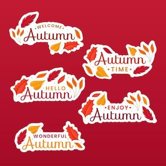Paquete de etiquetas de otoño