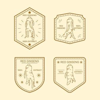Paquete de etiquetas de tarro de ginseng