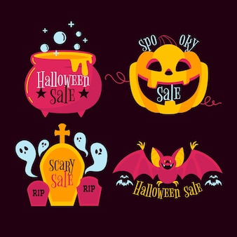 Paquete de etiquetas de venta de halloween