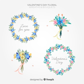 Paquete flores san valentín colores pastel