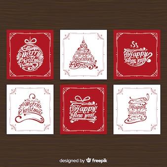 Paquete de fondo de navidad