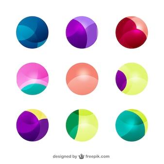 Paquete de formas abstractas circulares