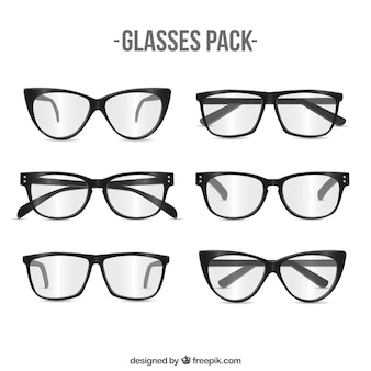 Paquete de gafas modernas