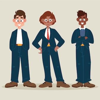 Paquete de gente de negocios de dibujos animados