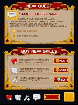 Paquete de gui de juego medieval