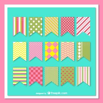Paquete de guirnaldas con patrones de colores