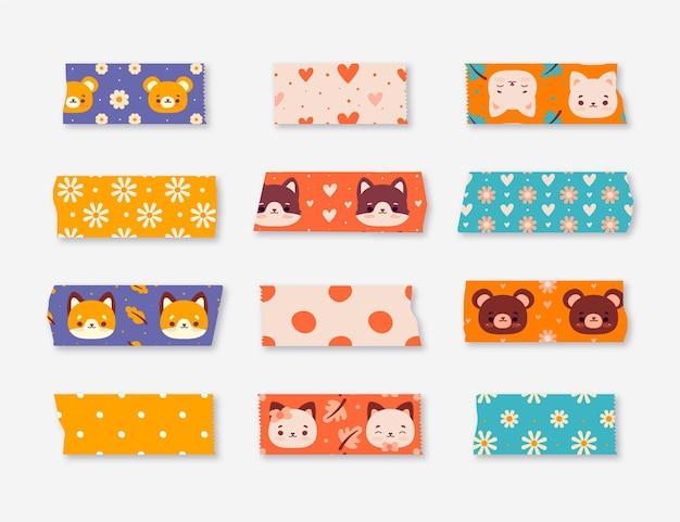 Paquete de hermosas cintas washi