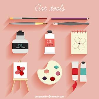 Paquete de herramientas de arte planas