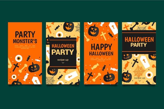 Paquete de historias de instagram de halloween