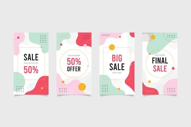 Paquete de historias de redes sociales de ventas de compras