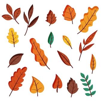 Paquete de hojas de otoño