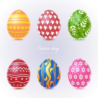 Paquete de huevos de pascua realista