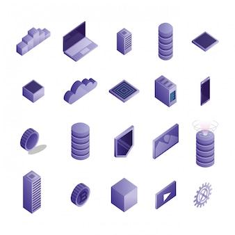 Paquete de iconos de centro de datos