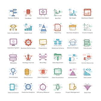 Paquete de iconos de data analytics