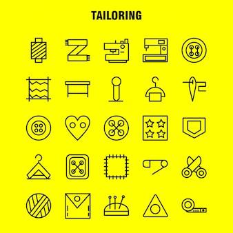Paquete de iconos de línea de sastrería