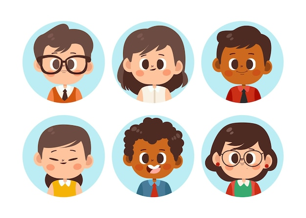 Paquete de iconos de perfil plano dibujados a mano