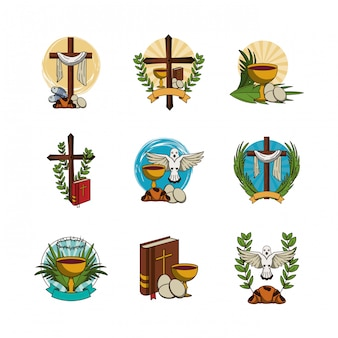 Paquete de iconos de primera comunión