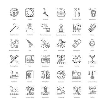 Paquete de iconos de vacaciones