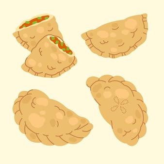 Paquete de ilustración de empanada