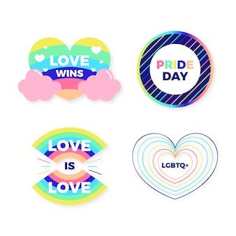 Paquete de ilustración de insignias del día del orgullo