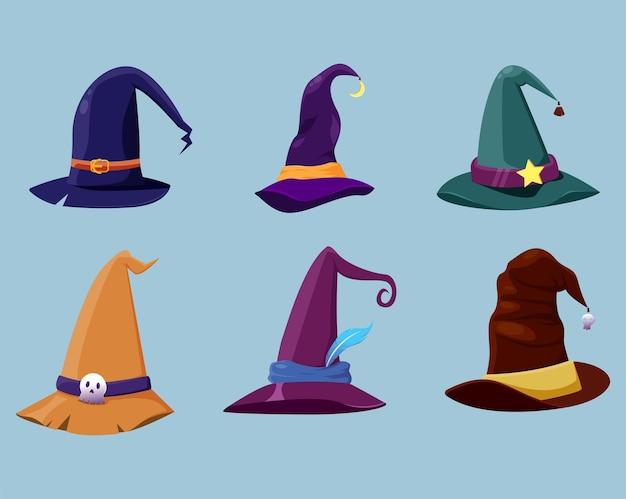Paquete de ilustración de sombrero de bruja