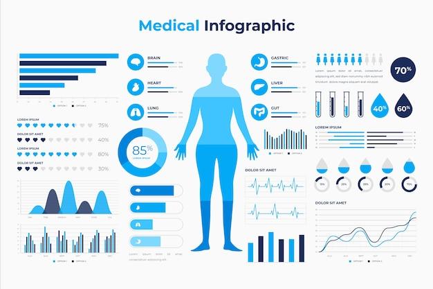 Paquete de infografía médica