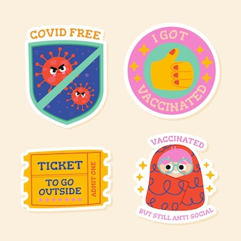 Paquete de insignias de la campaña de vacunación