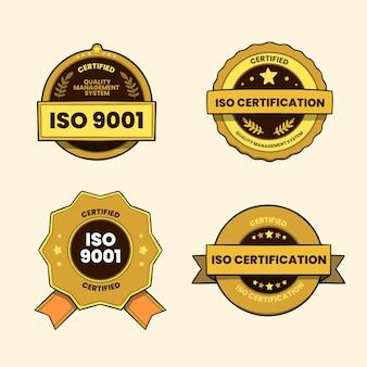 Paquete de insignias de certificación iso