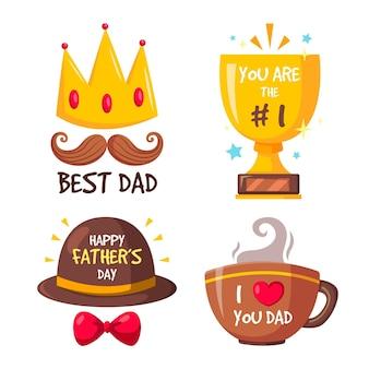 Paquete de insignias del día del padre