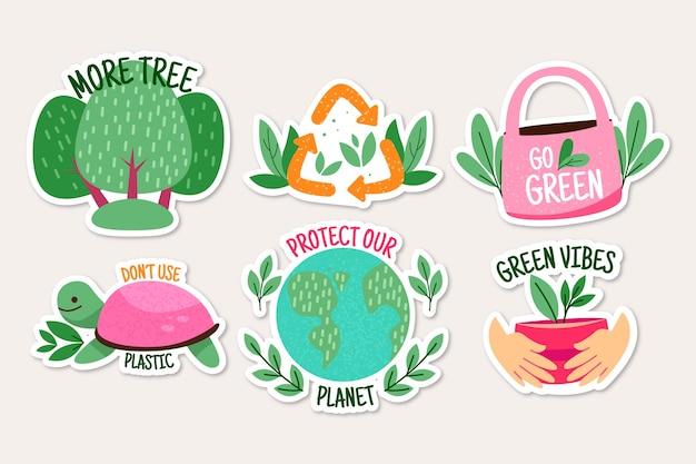 Paquete de insignias ecológicas