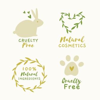 Paquete de insignias planas libres de crueldad