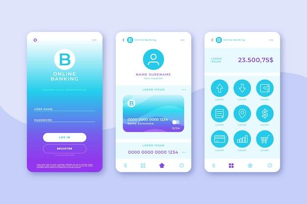 Paquete de interfaz de la aplicación bancaria