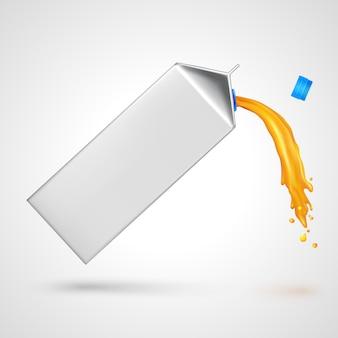 Paquete de jugo que fluye