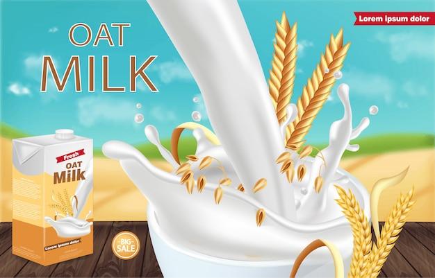 Paquete de leche de avena