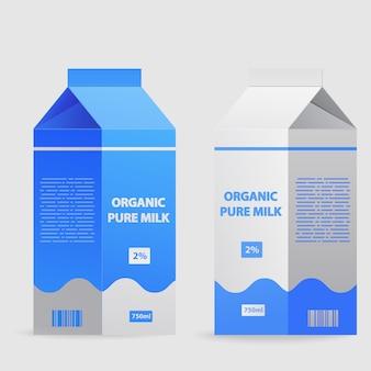 Paquete de leche caja de cartón.