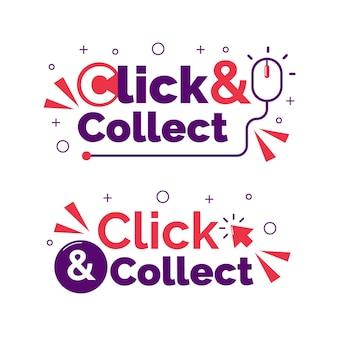 Paquete de letreros de clic y recopilación detallado