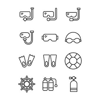 Paquete de línea de accesorios de natación